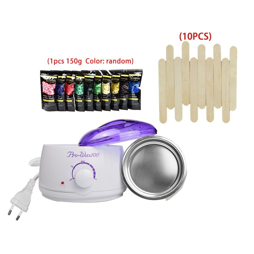 Hot Wax Warmer Heater Machine Epilator EU/US Wax Finishing Touch Flawless Hair Removal+Waxy Paste Beans+Applicator Sticks Kit sharpener polishing wax paste metals chromium oxide green abrasive paste chromium oxide green polishing paste