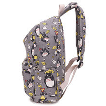 Totoro Printing Canvas Backpack School Bags