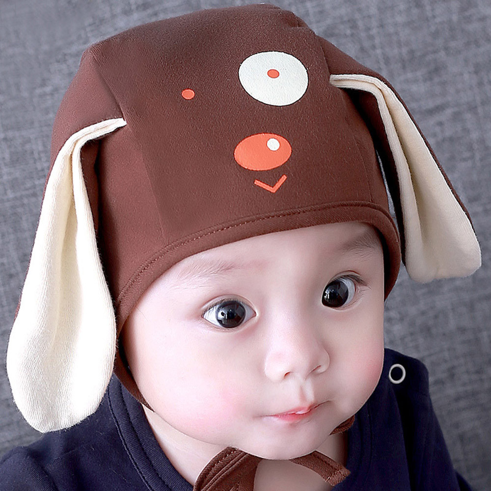 Lovely Children Baby Hat Kids Newborn  Cartoon Dog 3D Ears Children Beanies Boys Girls Hats Headwear Toddler Caps Accessories-in Hats & Caps from Mother & Kids on Aliexpress.com   Alibaba Group