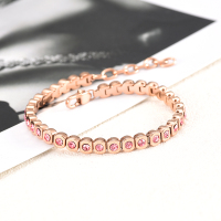 Factory Directory Wholesale Beautiful Chain Bracelet Estended Chain Cuff Bangle Wristlet Bangle with Box Bik Chain Bracelet