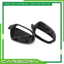 For Audi A6 S6 RS6 Replacement Style Carbon Fiber Mirror Cover Body Side Rear View Mirrors without Side Assist carbon fiber replaced side mirror cover for audi a6 c7 2012 2016 a6 s6 rs6 2013 2016