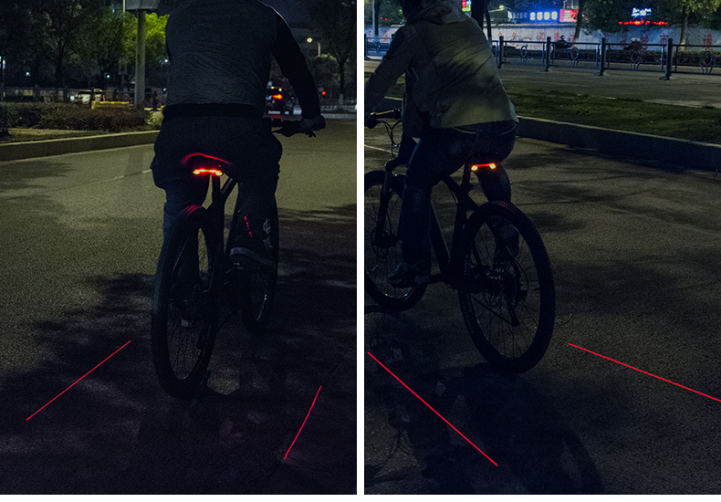 LED Seatpost, Tail Light Wireless  Safety Warning, Bike Waterproof Intelligent, Remote Control Rear, Lamp 30