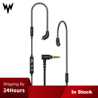 Whizzer MMCX Upgrade Cable 6N OCC Single Crystal Copper Dedicated for A15 Fiio Sony with Mic Volume Control Applies Original