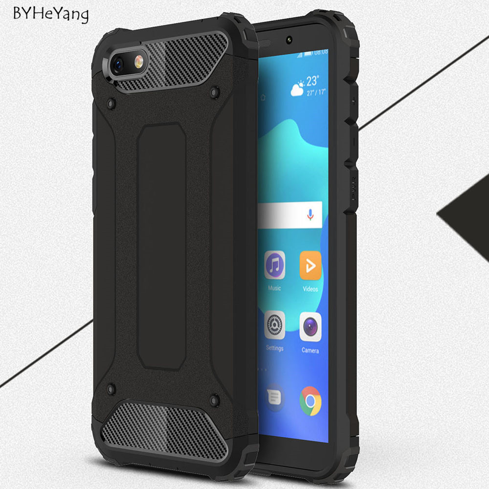 For <font><b>Huawei</b></font> Y5 Lite <font><b>2018</b></font> <font><b>Case</b></font> Shockproof Slim Hard Tough Rubber Armor <font><b>Cases</b></font> For <font><b>Huawei</b></font> Y5 Lite <font><b>2018</b></font> DRA-LX5 Y5Lite <font><b>Y</b></font> <font><b>5</b></font> Lite <font><b>2018</b></font> image