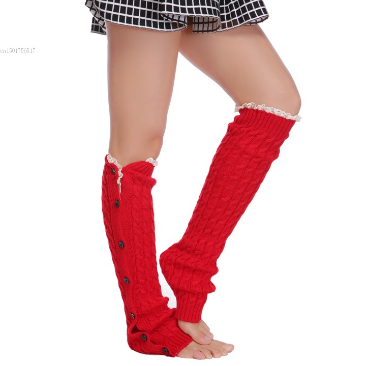 New Style Knitted Thick Warm Leg Warmers Winter Autumn Over Knee ...