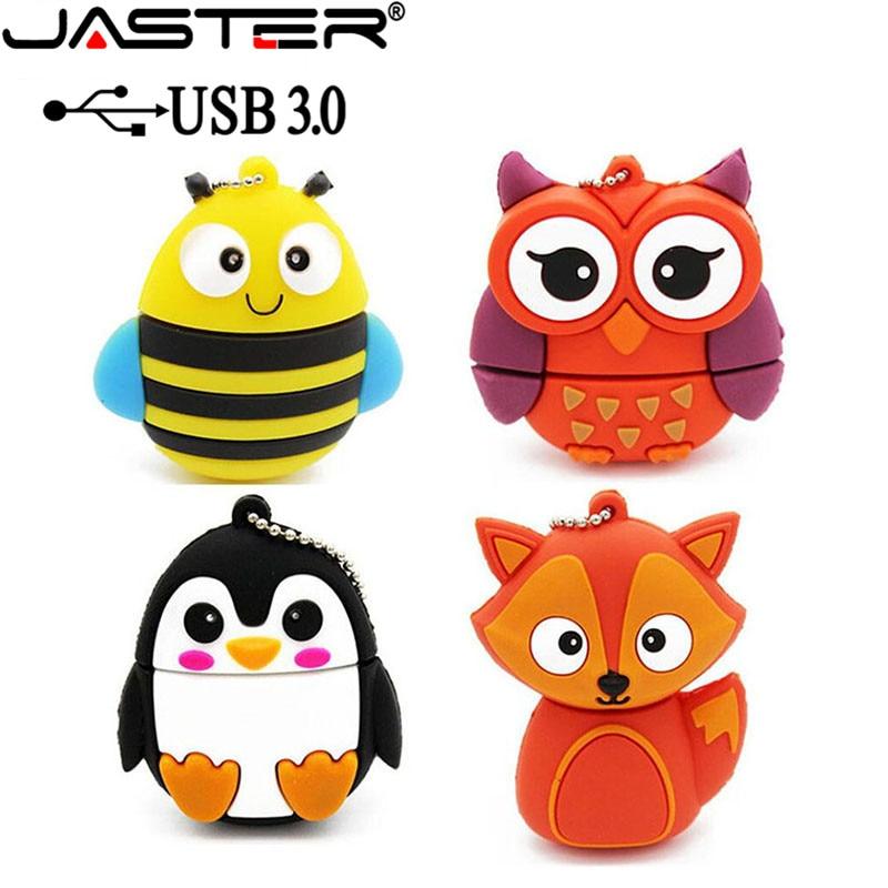 JASTER USB 3.0 Lovely Fox Model Usb Flash Drive Animal Pendrive Cartoon 4gb 8gb 16gb 32gb 64GB Pendrives Memory Stick U Disk