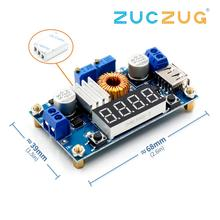 DC DC 5A Digital LED de litio módulo para cargador de batería CC/CV USB convertidor Buck de reducción con voltímetro amperímetro