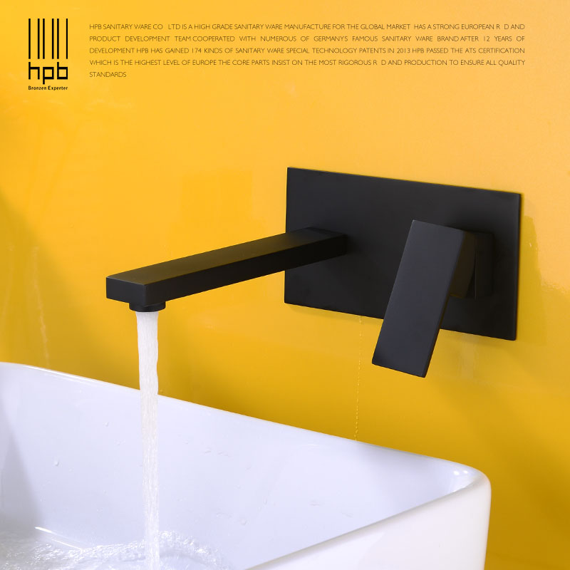 HPB Basin Faucet Tap Bathroom Faucet Concealed Installation Wall Hot ...