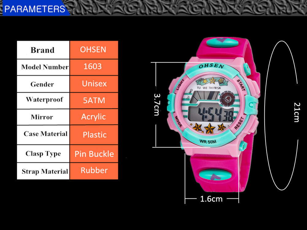 Hot OHSEN Children Watch Boys Life Waterproof Digital LED Sports Watch Kids Alarm Date Casual Watch Gift Hombre Reloj Deportivo (27)