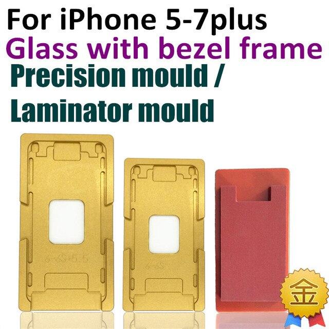 1 компл. Точность алюминия форма Для iphone 5 5c 5s 6G 6 s 7 плюс 4.7 Ламинатор формы металла для стеклянный объектив с рамкой Рамкой Расположение