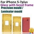 1 conjunto de precisão molde de alumínio para iphone 5 5c 5s 6g 6 s 7 além de 4.7 Localização Laminador molde de metal para lente de vidro com Moldura do quadro