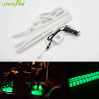 4pc Lot Universal RGB APP Controller Car Floor Foot LED Atmosphere Light Night Safety Feet Lamp