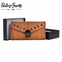 2017 Sally Young Women Wallet Long Purse Hasp Closure Women S Wallet Female Fashion Solid Metal