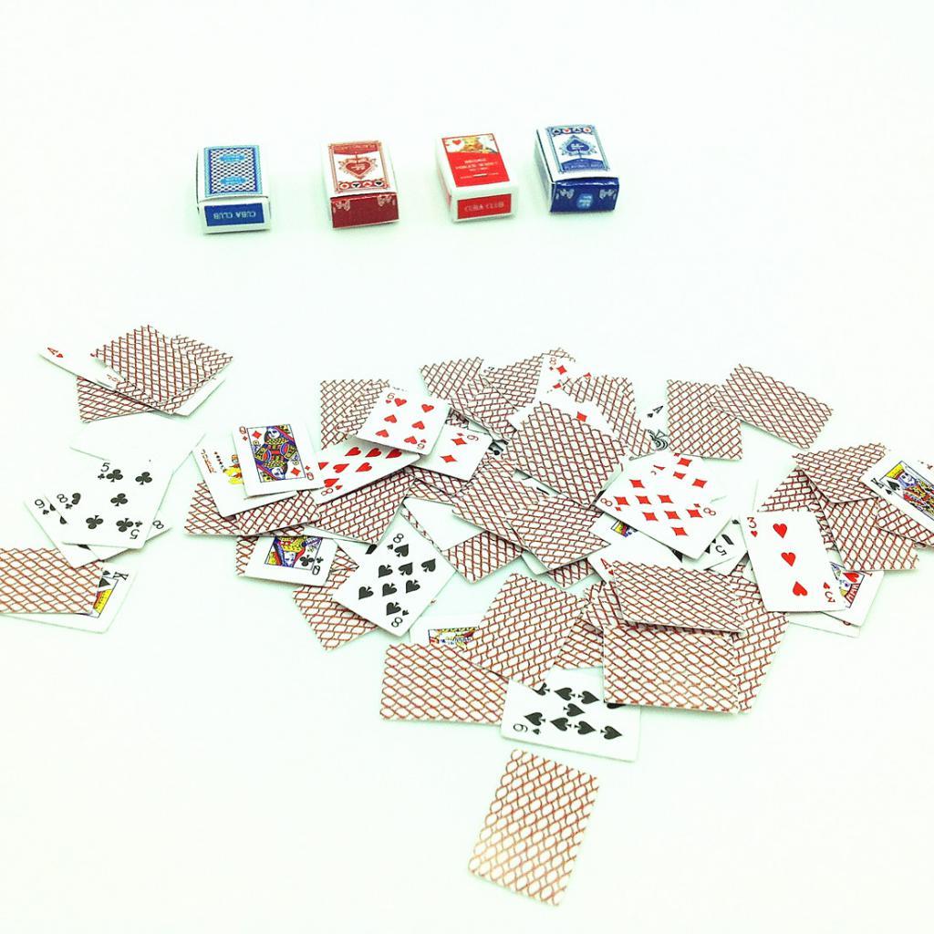 Dollshouse Miniature ~ JEU de CARTES à JOUER ~