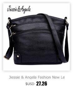 e0475c3d491ac Jiessie & Angela Mody Nowe casual kobiety skórzane torebki crossbody  messenger torby dziewczyny torba na ramię WB50612A