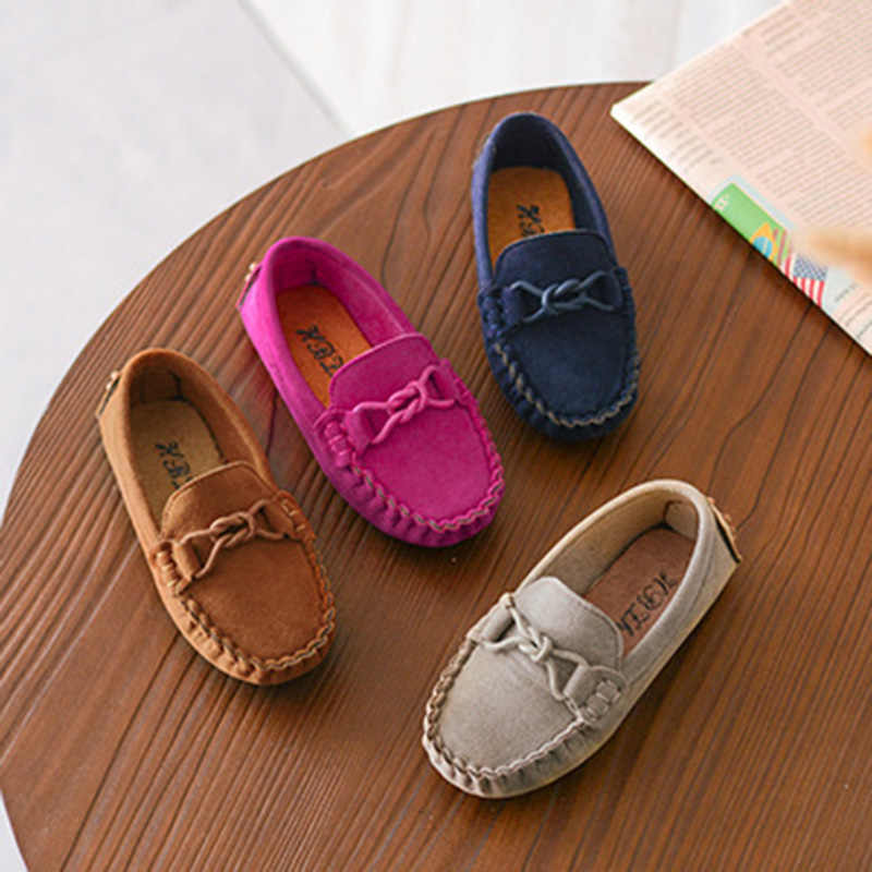 New Arrivals Boys Shoes Children Loafers Slip-on Flat Shoes Baby Kids Flats  Soft Girls 91ad22885cd0