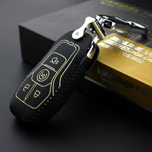 For F150 2016 for mustang 2015 2017 lincoln MKX MKZ MKC 2014 chave do carro de couro caso key2s Free shipping
