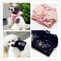 Moda małe szelki dla psa i obroże dla psów i prowadzi leash anioł pet puppy vest odzież brand new design różowy czarny