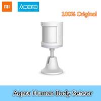 Original Xiaomi Aqara Smart Home Human Body Sensor Security Device With Holder Stand Movement Sense Light