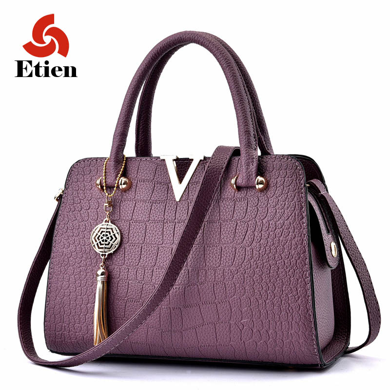 famous brand designer luxury pu leather handbags women messenger bag