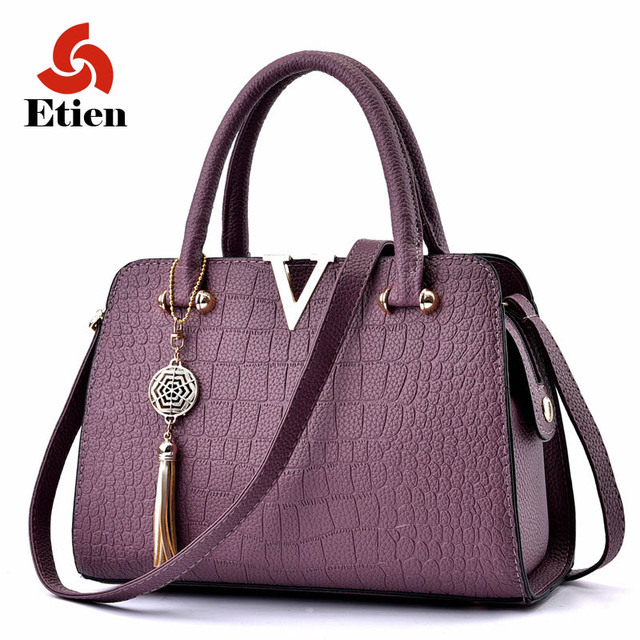 2017 Women Famous brand designer Luxury pu leather handbags women messenger bag Ladies Shoulder bags crocodile pattern Crossbody