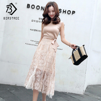 2018 Summer Sweet O Neck Girl Dresses Two Piece Sets Sleeveless Sling Hong Kong Style Empire Vintage Female Clothing D87426LD