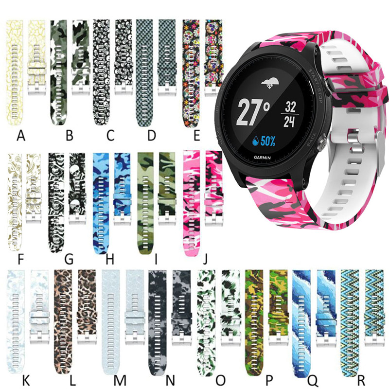 Quick Release Watch Band Wrist Band Watch Strap For Garmin Forerunner 935 GPS Watch Printed Fashion Sports Silicone Watchbands