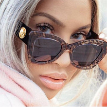 c7d0074e4c Women Fashion Cat Eye female sunglasses 2019 New Trendy Big Frame CatEye  feminine glasses Vintage Black