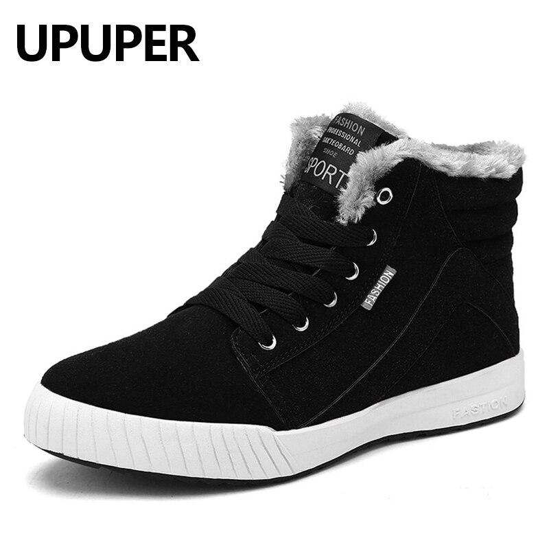 UPUPER Hiver Hommes bottes de neige Avec Fourrure High Top bottes chaudes Hommes Mode Hommes Bottes décontracté Hommes de Chaussures En Peluche Taille 39 -48 baisse Shiping