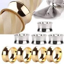 4 шт кольца для салфеток из нержавеющей стали для обедов, свадеб, отельных принадлежностей диаметром 4,5 см DTT88