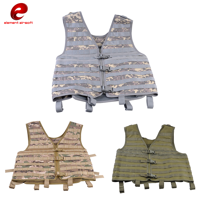 Element Tactical Vests Military 107 Series MOLLE Tactical Vests Combat Shooting Outdoor Vest Hunting Camping CS Field Vest BX001