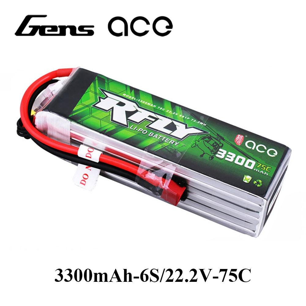 Gens ace RFly 3300 mah 6 s 22.2 v 75C Max 150C Lipo Batterie avec XT60 Dean T Plug pour traxxas Bateau Hélicoptère à Voilure Fixe Drone Avion