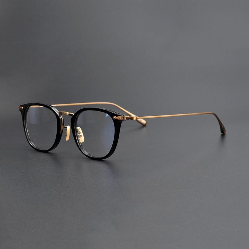 Handmand Titanium Vintage Square Glasses Frame Men Brand Design Retro Clear Lens Eyeglasses Women Optical Myopia Eyewear Frames in Men 39 s Eyewear Frames from Apparel Accessories