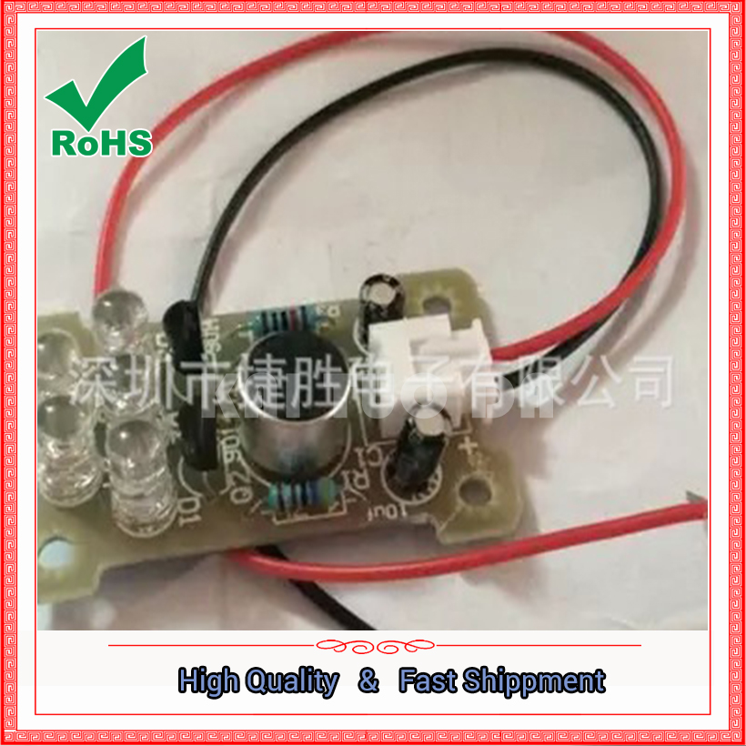 Voice 5MM green LED melody lights electronic production kit DIY interesting production parts module board