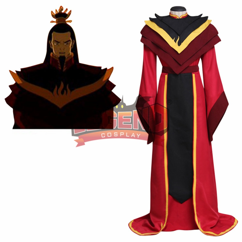 AvatarThe Legend of Aang The Last Airbender Fire Lord Ozai Costume Adult Men Halloween Carnival Cosplay cosutme