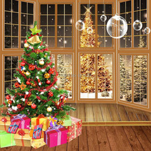 Beautiful Christmas Tree 8'x8′ CP Computer-painted Scenic Photography Background Photo Studio Backdrop ZJZ-966