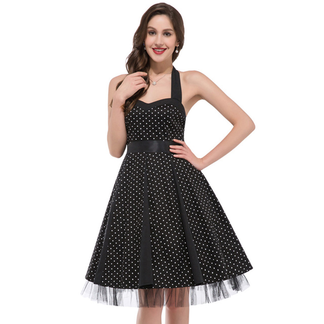 Cheap Pin Up Clothing Inspiration Vestidos Women Rockabilly Dress Retro Pinup Vintage Clothing Cheap