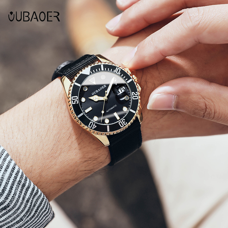 2019 NEW Mens Watches Top Brand OUBAOER Sport Mechanical Watch Luxury Watch Waterproof Montre Homme Clock Relogio Masculino+BOX(China)