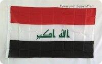 Флаг Ирака Бесплатная доставка 3ft x 5ft подвесной флаг из полиэстера Ирак баннер наружный внутренний 150x90 см для торжества большой флаг