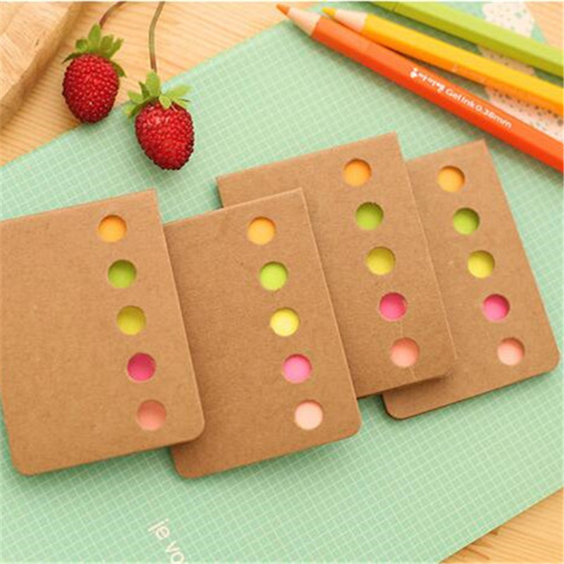 Kawaii Candy Color Sticky Notes Self-Adhesive Memo Pad Daily Notepads School Supply Bookmark Post it Label Stationery Gifts 8cm