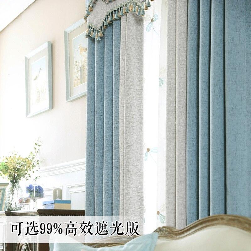Moderne und schlichte Vorhänge für Wohnzimmer Schlafzimmer Studie - Haustextilien - Foto 3