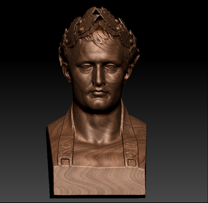 3d model for cnc in STL file format STL The Bust of Napoleon 3d model relief for cnc in stl file format rose 1