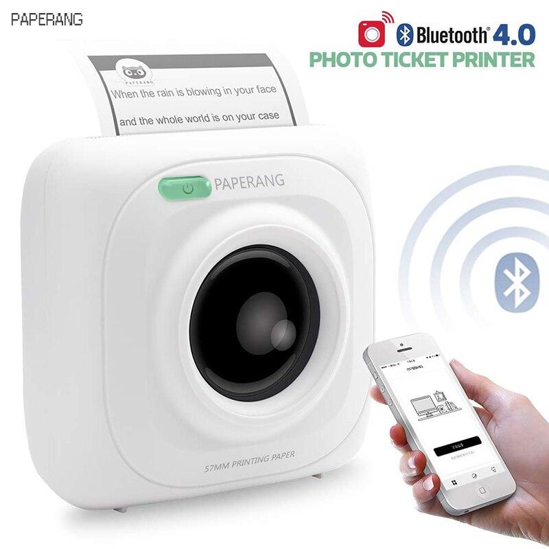 PAPERANG P1 Portable Bluetooth 4.0 imprimante thermique Photo imprimante téléphone sans fil connexion imprimante 1000 mAh Lithium-ion pâte
