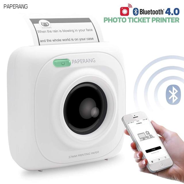 PAPERANG P1 portátil Bluetooth 4,0 impresora térmica impresora de la foto la conexión inalámbrica del teléfono impresora de iones de litio de 1000 mAh Batter