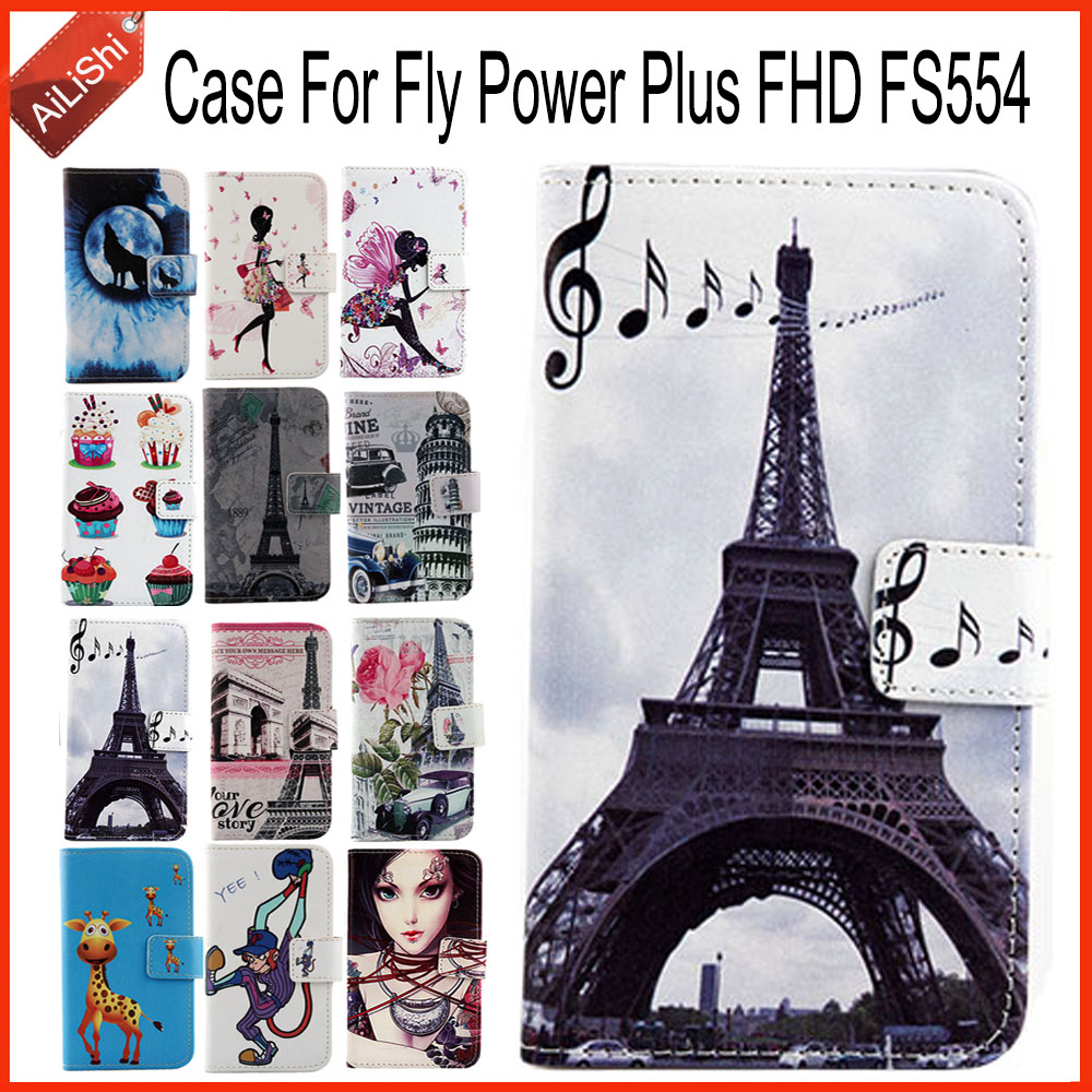 AiLiShi Factory Direct! Case For Fly Power Plus FHD FS554 PU Flip Leather Case Exclusive 100% Special Phone Cover Skin+Tracking image