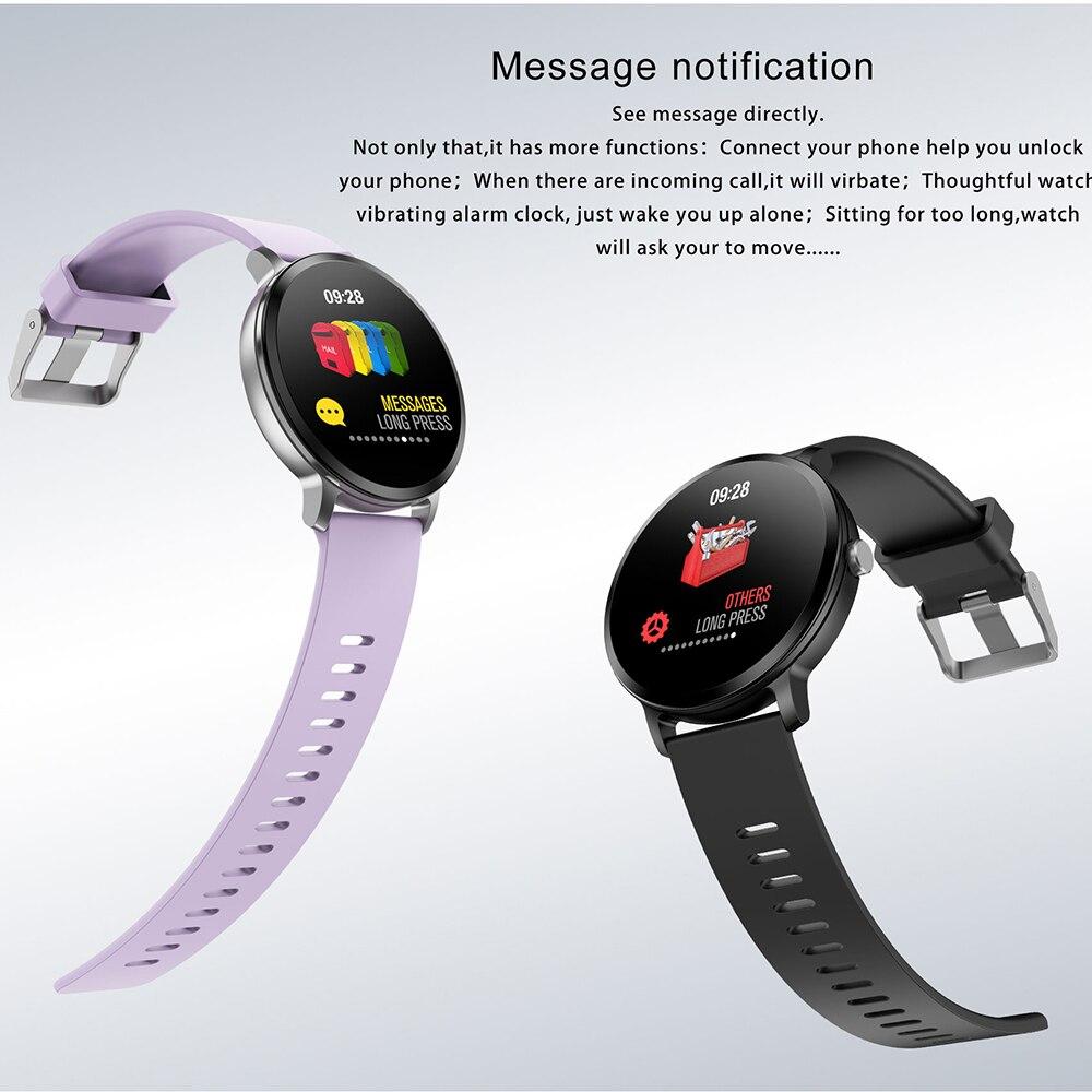Fentorn V11 montre Smart watch IP67 étanche en verre Trempé Activité Fitness tracker fréquence Cardiaque Sang Pression Hommes femmes smartwatch - 2