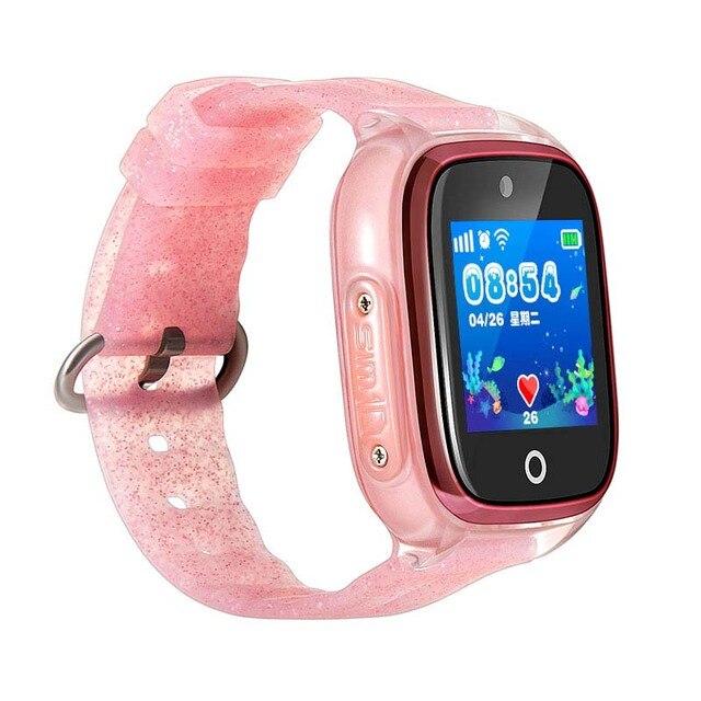 2275578ed0b7 DF34 los niños con GPS teléfono smart watch con cámara reloj de bebé nadar  IP67 impermeable