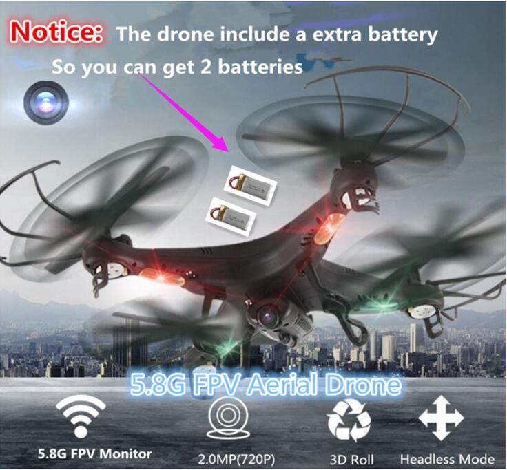 New professional rc helicopter L-20 5.8G FPV drone With 2MP HD Camera 150M Hold Mode RC Quadcopter with 2 battery vs Q333 XS809W