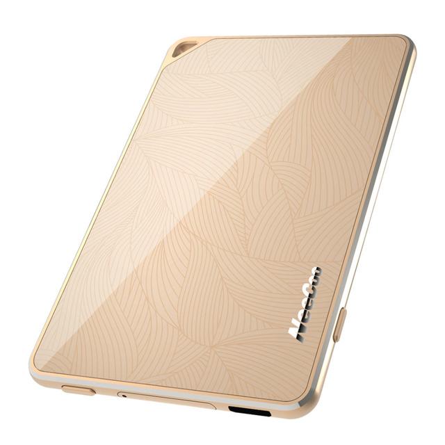 Ultra-delgado marco de aleación de aluminio de lujo original de oro neecoo portátil bluetooth 4.0 adaptador doble tarjeta sim para iphone 6 s plus