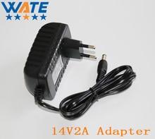 14V2A AC 100V-240V Converter Adapter DC 14V 2A 2000mA Power Supply EU Plug 5.5mm x 2.1-2.5mm for LED CCTV Free shipping